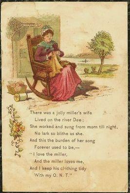 Clarks O.N.T Spool Cotton Nursery Rhymes Victorian Paper Trade Card