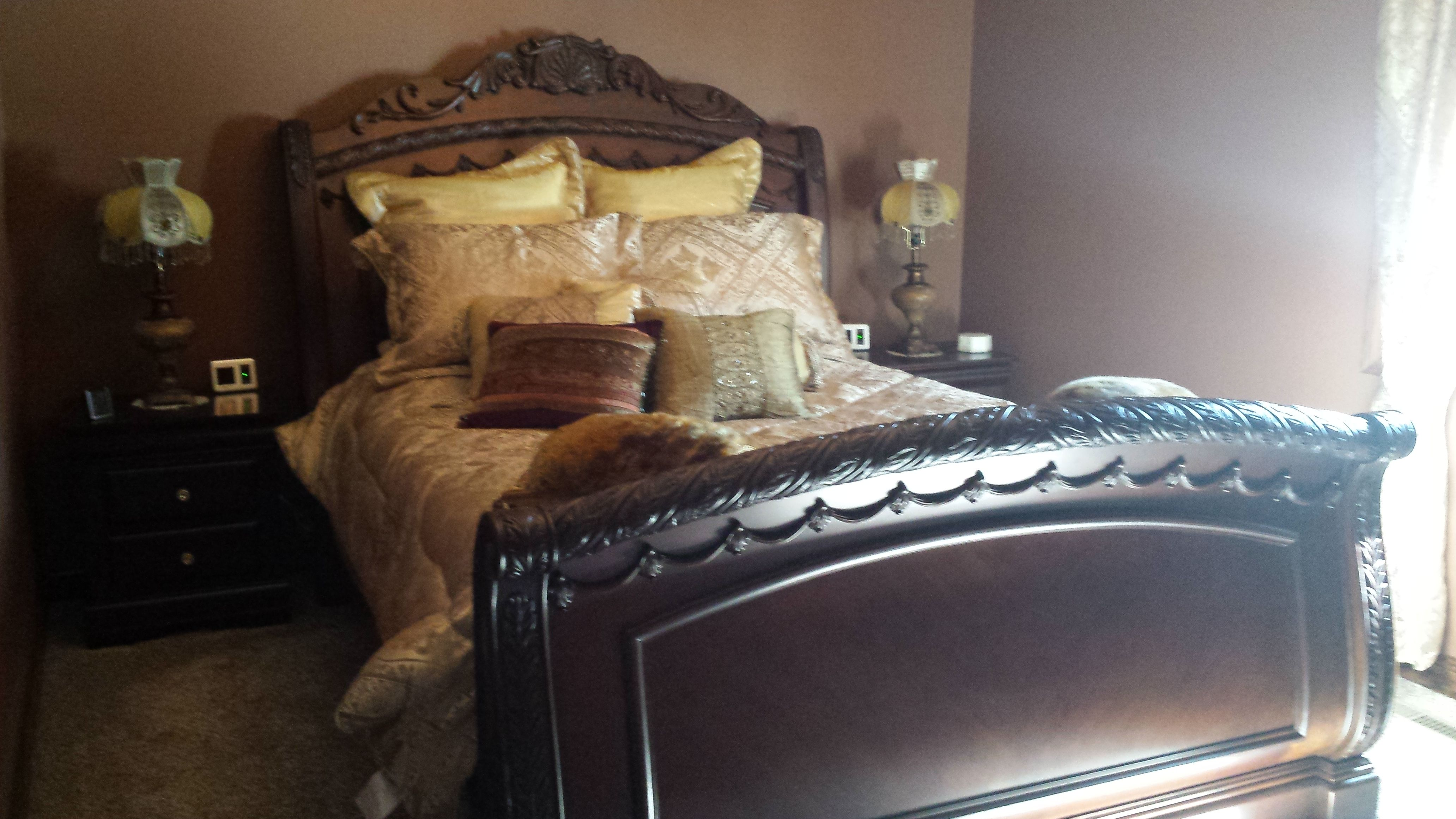 Our New Bedroom. Brown Paint From Sherwin Williams. North Shore Sleigh Bed  From Ashley