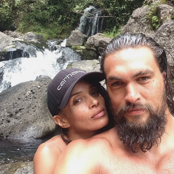 Jason Momoa Baywatch: Jason Momoa And His Wife, Lisa Bonet. Hawaii