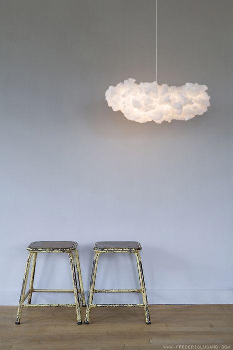 wolkenlamp en vintage krukjes - www.fredericlucano, Deco ideeën