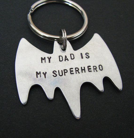 custom superhero keychain  personalized holiday by juliethefish, $20.00