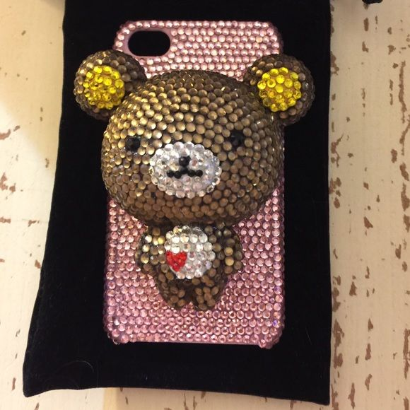 iPhone 4/4s crystal case iPhone 4/4s crystal case, 3D bear, perfect condition, see photos. Iphone 4/4s Accessories Phone Cases