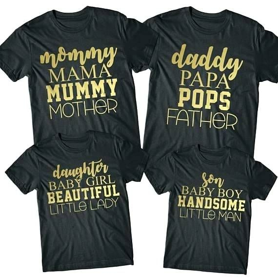 c447b00fb tshirt for mom and dad - baby shower tshirts for family mom son mommy daddy  - t shirts father mother daughter - baby shower new mom