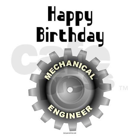 Mechanical Engineer Birthday Greeting Card