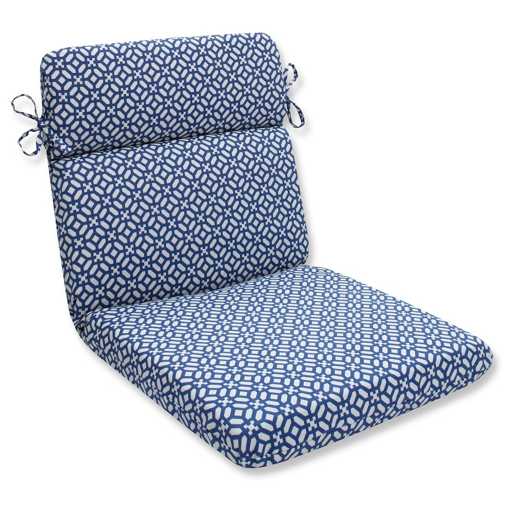 Pillow Perfect Outdoor One Piece Seat And Back Cushion   Blue