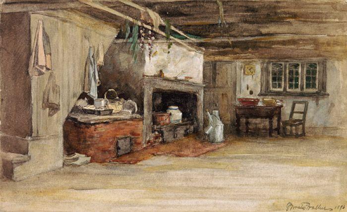 Interior of a canadian house horatio walker int rieur de maison inside of house 1886 for Interieur maison original