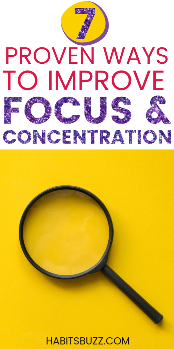 How To Improve Focus And Concentration 7 Proven Tips Improve Focus Concentration Deep Focus