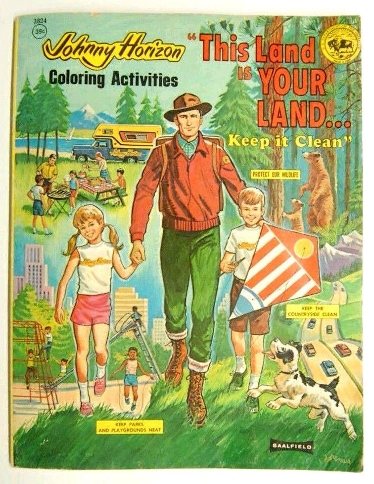 Johnny Horizon VINTAGE US DEPT OF INTERIOR RARE PROMOTION Coloring Book