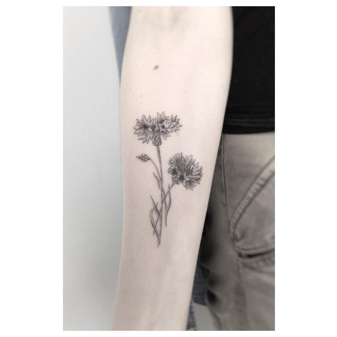 02c28451c64eb Cornflower New Tattoos, Black Tattoos, Floral Tattoos, Small Tattoos,  Future Tattoos,