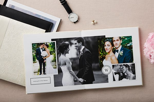 Shutterfly Premium Wedding Photo Books Crushed Silk Genuine Leather Hard Cover Thick Layflat Pages True Spread