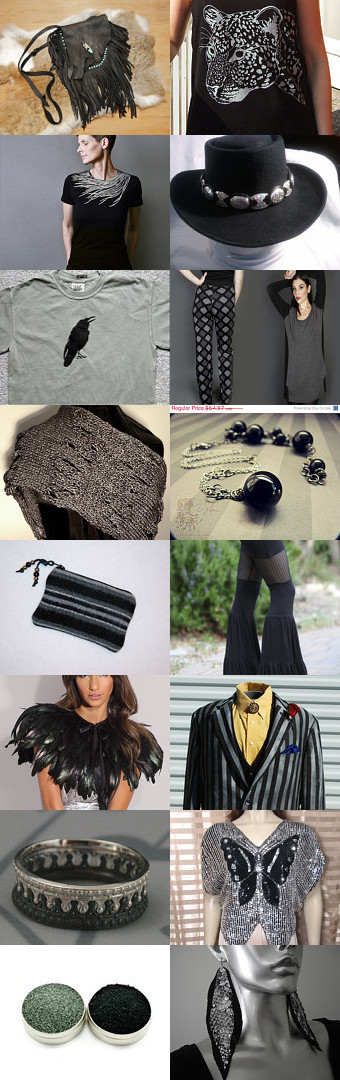 silver and black attack by Stacy Hatfield on Etsy--Pinned with TreasuryPin.com