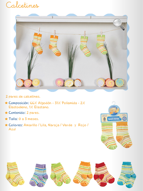 Calcetines/Dos Pares/6 colores