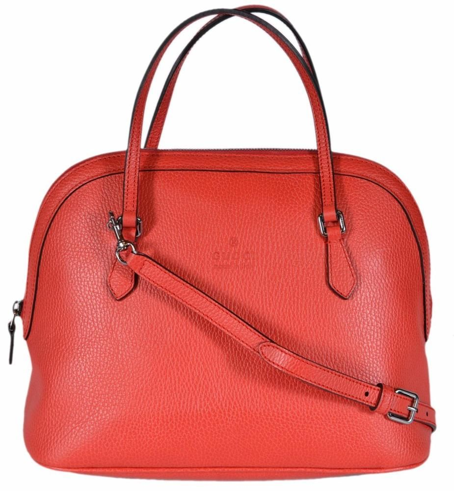 c8d24e6f491 NEW Gucci Women s 420023 MEDIUM Sporting Red Leather Convertible ...