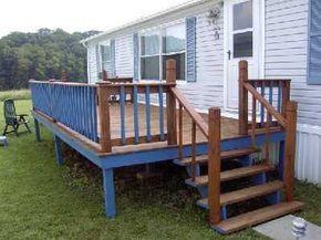 Diy Decks And Porch For Mobile Homes Mobile Homes Free Deck Plans Resources Sunset Decks Mobile H Mobile Home Porch Mobile Home Deck House With Porch
