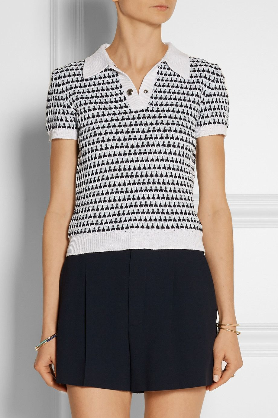 696beca62b2 This polo shirt from Miu Miu is indeed crocheted -- spike stitch!