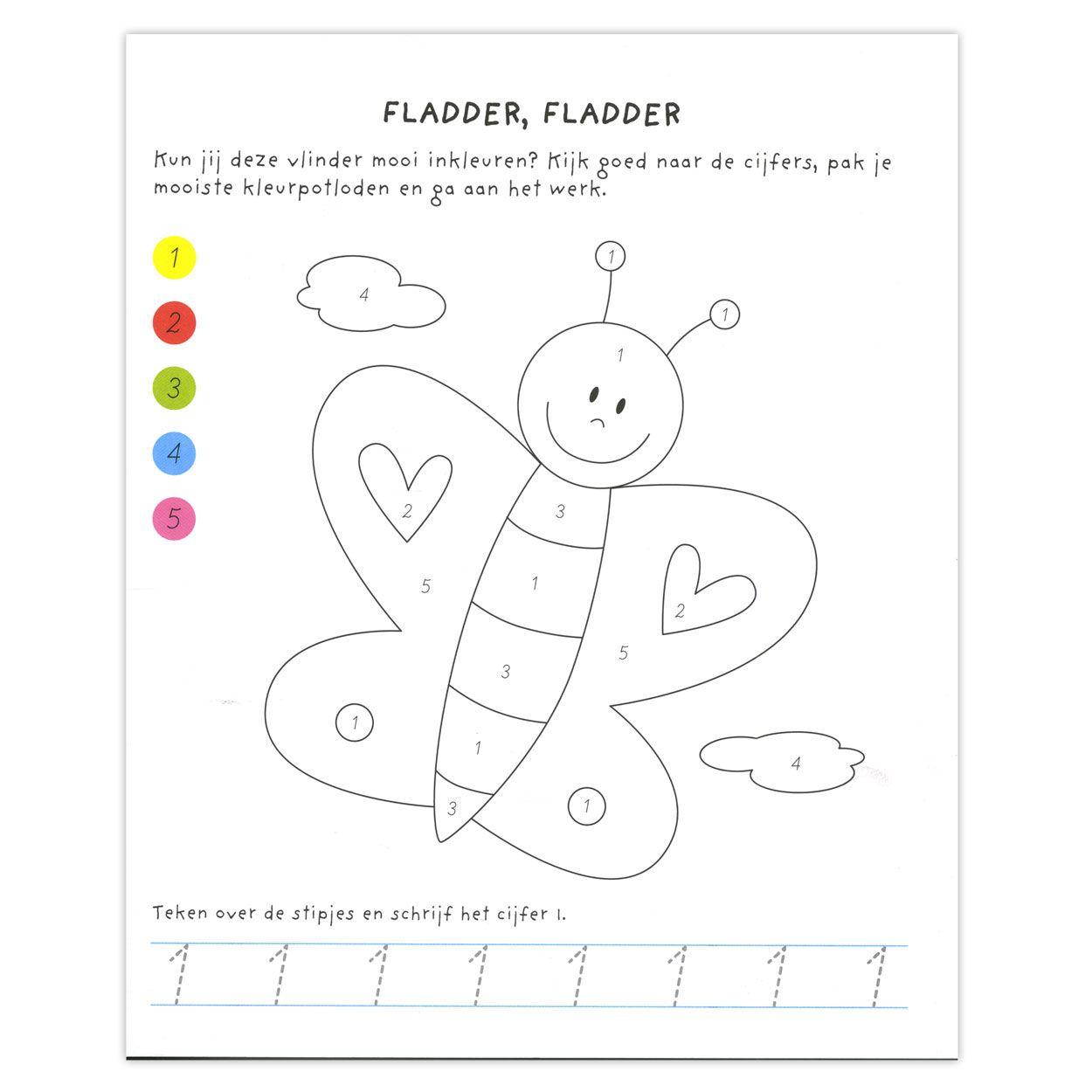 kleuren op nummer kleurplaten kleuren lijntekeningen