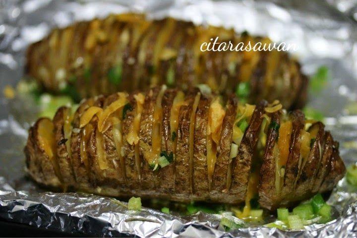 Kentang Spiral Bakar Spiral Baked Potatoes Recipes Kentang Keju