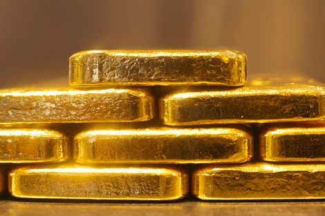 A different perspective on gold ingots.