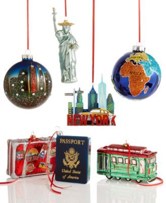 Holiday Lane World Traveler Ornament Collection Created For Macy S Macys Com Holiday Mantel Decorations Christmas Tree Ornaments