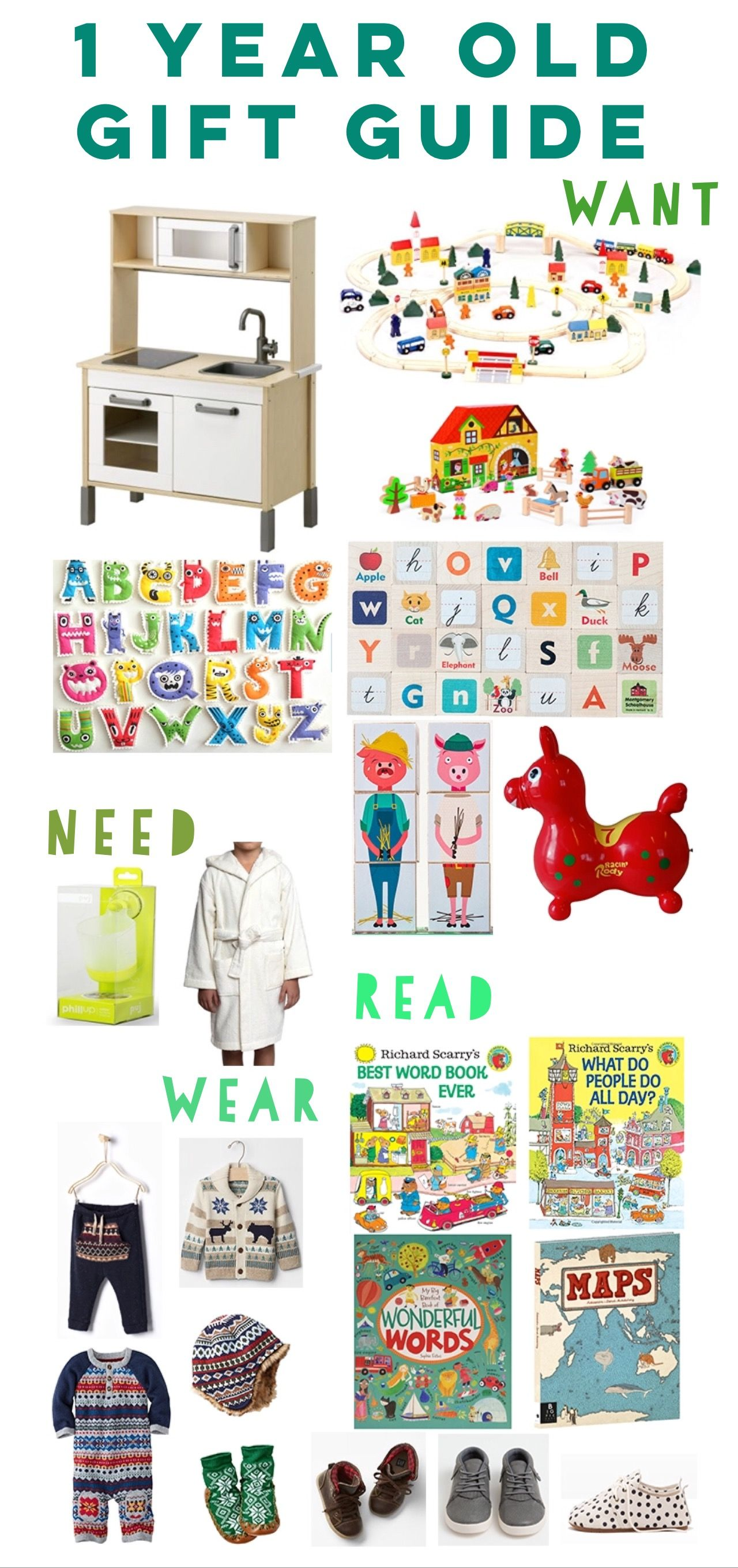 The Ultimate Christmas Gift List for 1 Year Old Boys and Girls | I ...