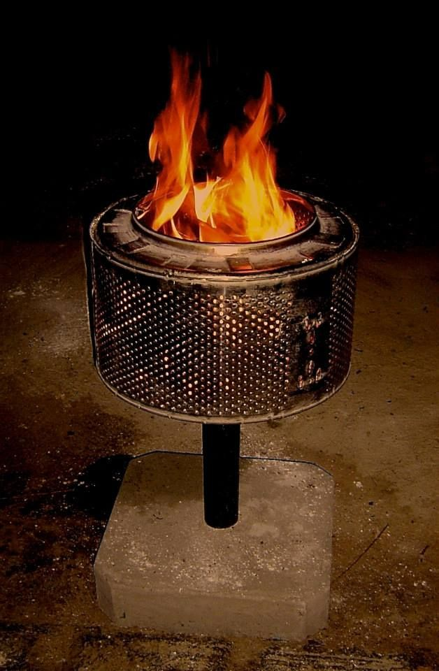 Some While Ago We Built This Brazier From An Old Washing