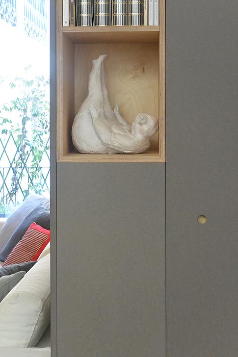 Studio di armadiature per la zona giorno in un appartamento già realizzato a Piacenza.