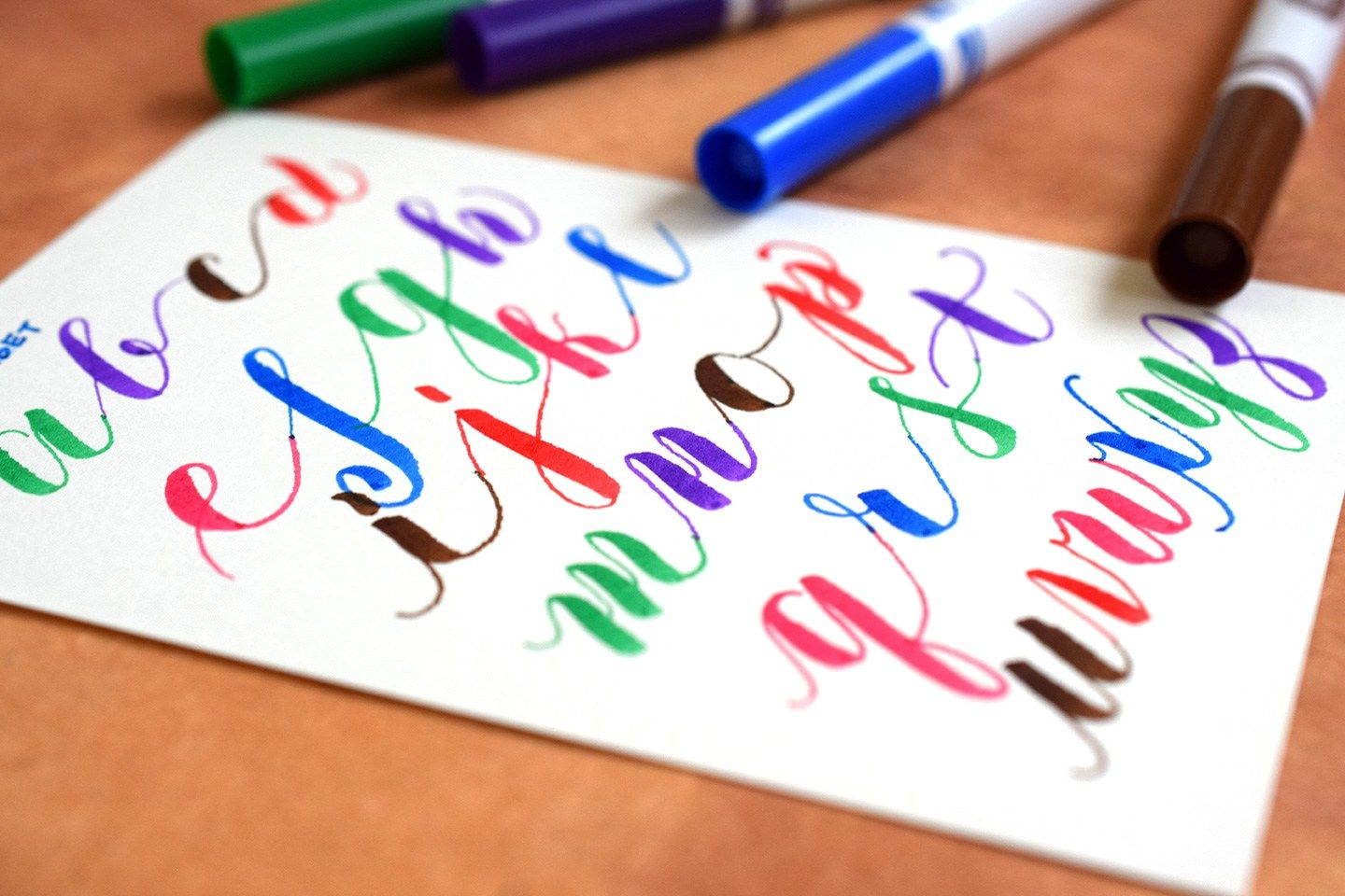 How To Write Crayola Calligraphy