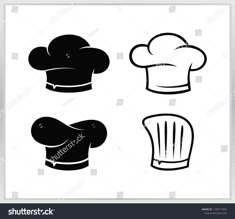 Set chef hat logo. cheaf hat vector design template hat