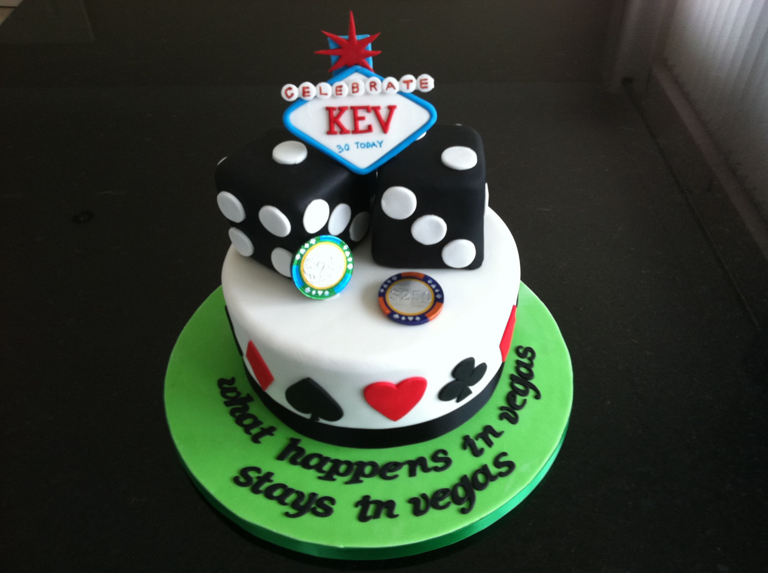 Las Vegas 30th Birthday Cake Party Plans Pinterest 30th