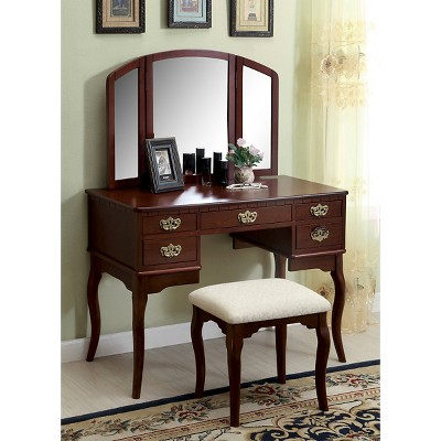 Fantastic Vanity Set Furniture Of America Red Red Products Pabps2019 Chair Design Images Pabps2019Com