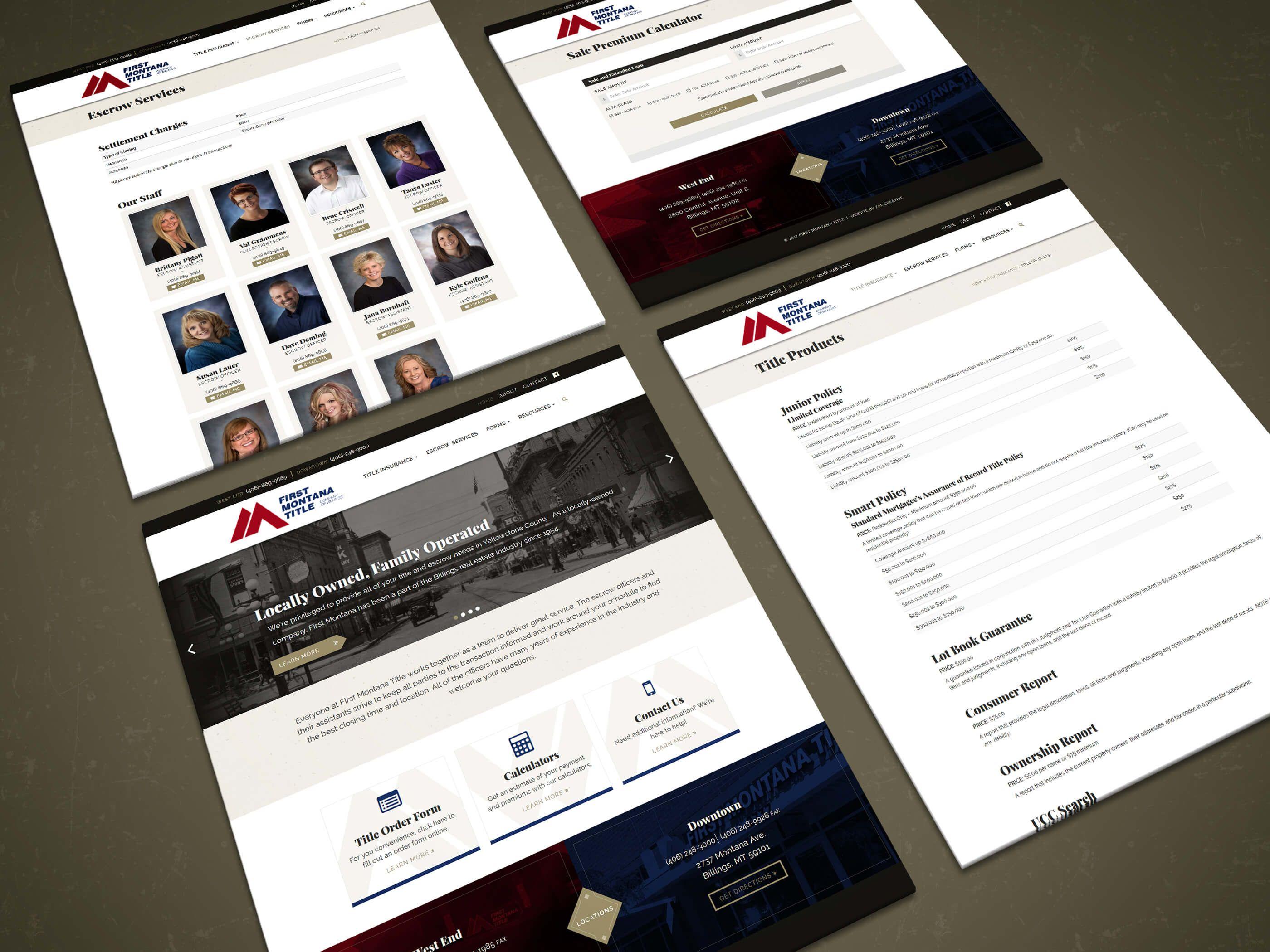 First Montana Title Lawyer Website Design Wordpress Website Design Creative Web Design