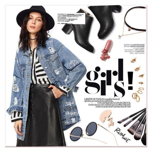 """""""Distressed Denim Jacket"""" by yexyka ❤ liked on Polyvore featuring LAQA & Co."""