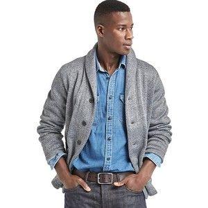60140956a2ad shawl collar cardigan man gray business casual - Buscar con Google ...