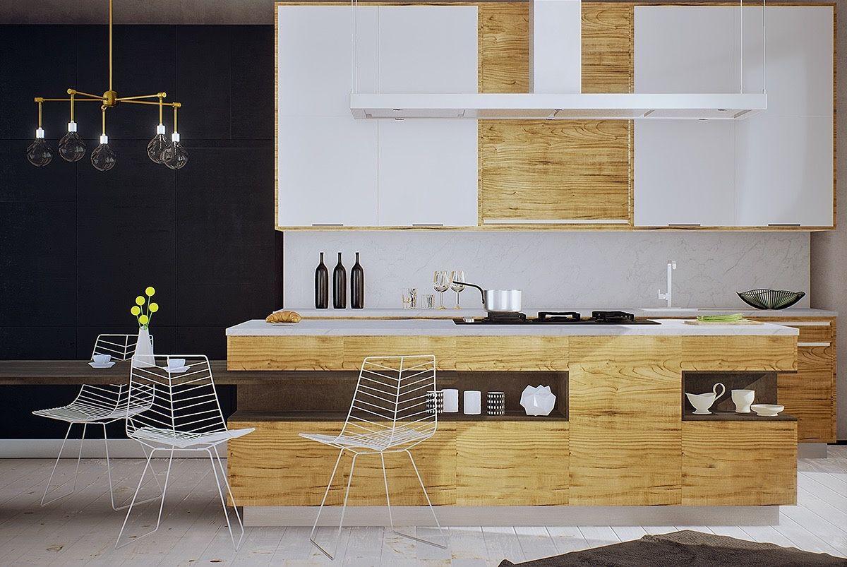 50 Modern Kitchen Designs That Use Unconventional Geometry Modern Kitchen Modern Kitchen Design Kitchen Design Open