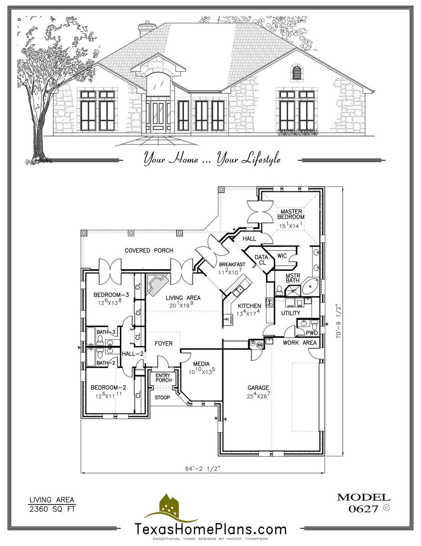 Texas home plans garden homes casitas  duplexes page morton building house also rh pinterest