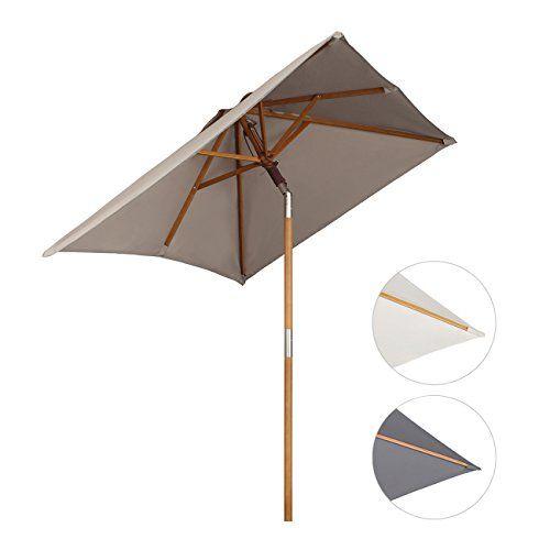Sekey 200 × 150 cm HolzSonnenschirm Sonnenschirm holz
