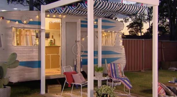 Tara And Adam Renovate Chelsea 39 S Caravan Better Homes And Gardens Tv Australia Pinterest