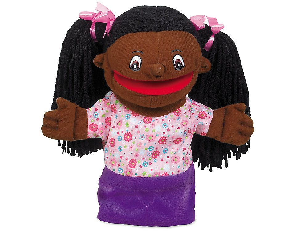 Let's Talk! African American Girl Puppet #africanamericanhair