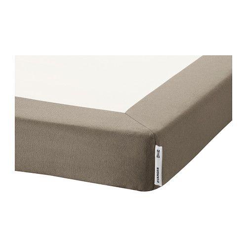Evanger Support Matelas 160x200 Cm Beige Foncé Ikea Bedroom