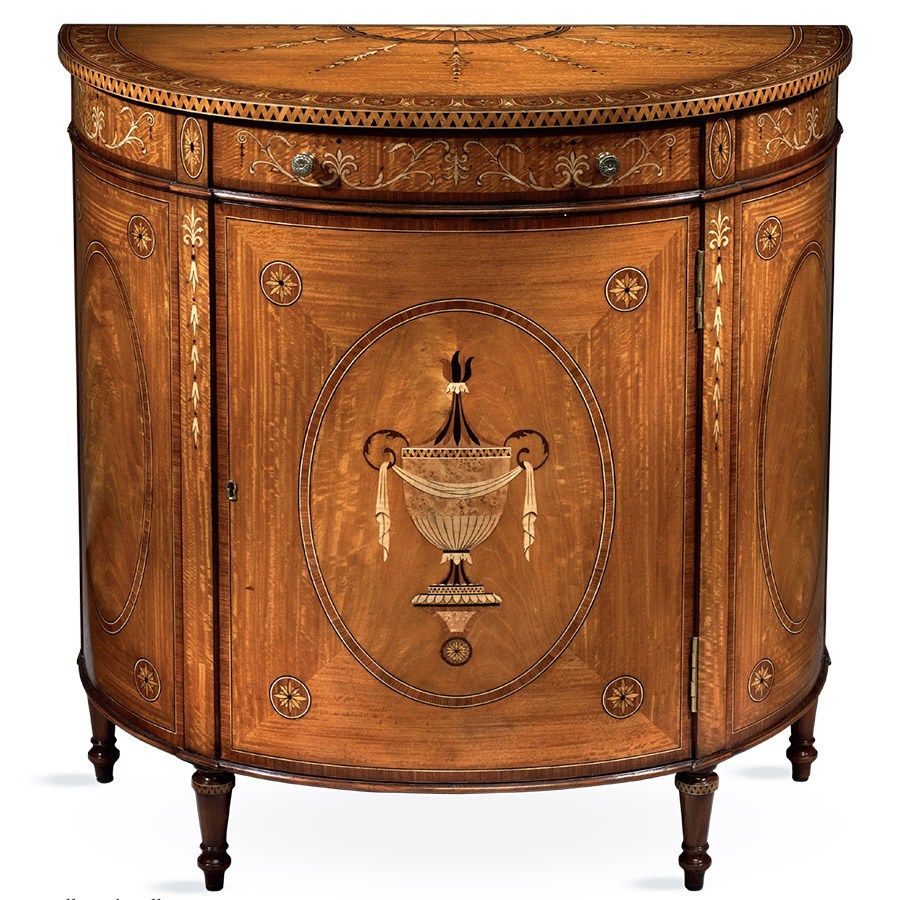 Satinwood Demilune Cabinet | Cabinets U0026 Cupboards | Cabinets, Bookcases U0026  Chests | Furniture |