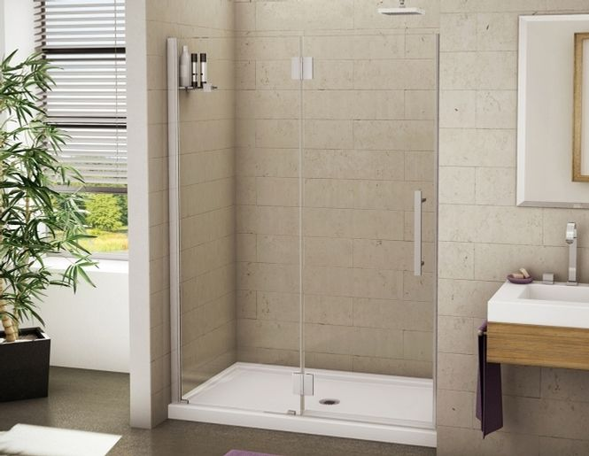 Platinum alcove shower door fleurco fleurco bathroom for Bathroom alcove ideas