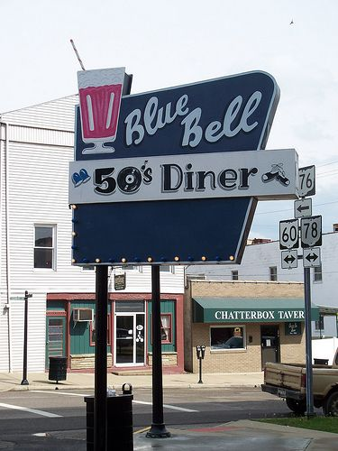 Blue Bell 50 S Diner Mcconnelsville Oh Vintage Diner Vintage Restaurant American Diner