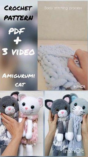 Amigurumi Cats - Orkid & Filip (CH0482) ・ClearlyHelena   512x288
