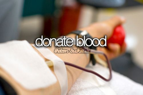 I've always been so afraid of needles, but I really want to try and get over that and donate blood.