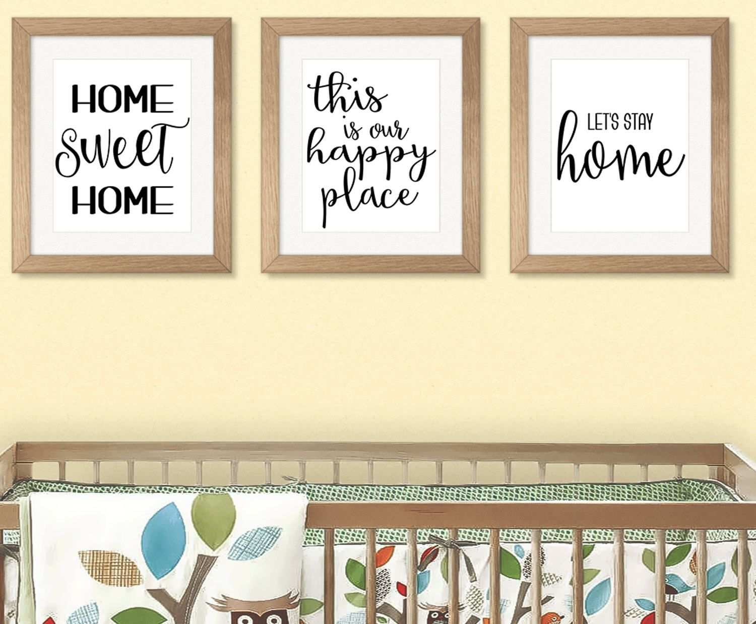 Housewarming gift, Home Wall Art, Set of 3, printable wall art ...