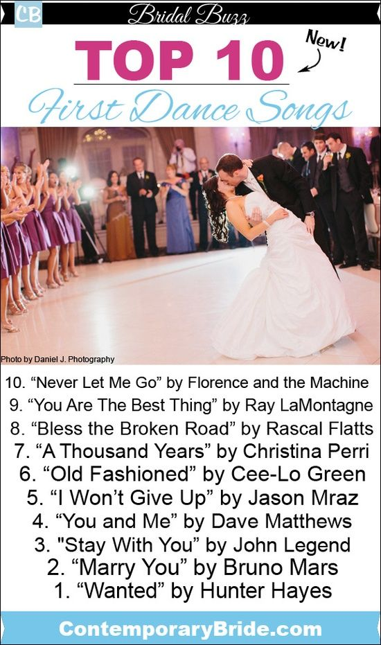 Top 10 New First Dance Songs Contemporary Bride Wedding Songs First Dance Songs Wedding Music