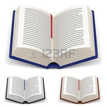 Portadas De Libros Libros Abiertos Con Marcador Rojo Y Azul Sobre Fondo Blanco Portadas De Libros Libro Abierto Dibujo Libro Abierto