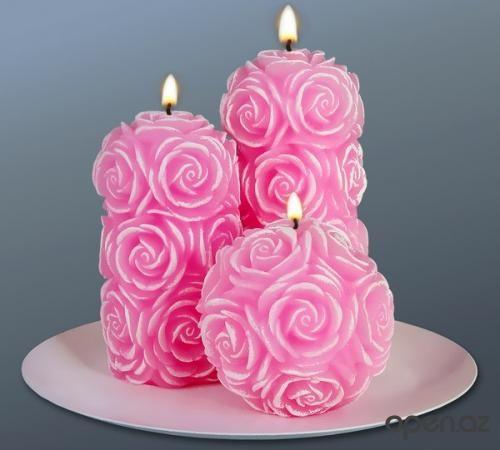 شموع رومانسية من تجميعي Candles Beautiful Candles Homemade Candles