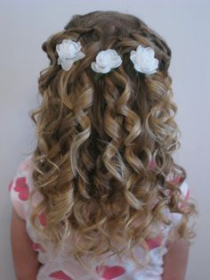 Flower Girl Hairstyles Stunning Flower Girl Hairstyles  Google Search  Wedding Hairs  Pinterest