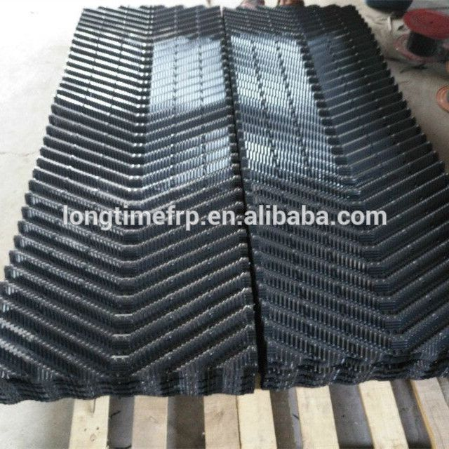 Pitch Of Fins 15mm 12mm Cross Flow Cooling Tower Filling Pvc Plastic Tower 300mm Width Cooling Tower Cross Flow Tower